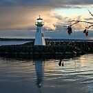 Outer Lighthouse on Prescott Harbour Lake Ontario by AnnDixon