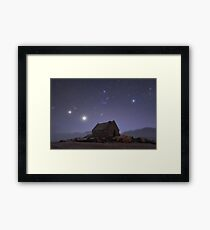 Matariki Rising above the Church of the Good Shepherd Framed Print