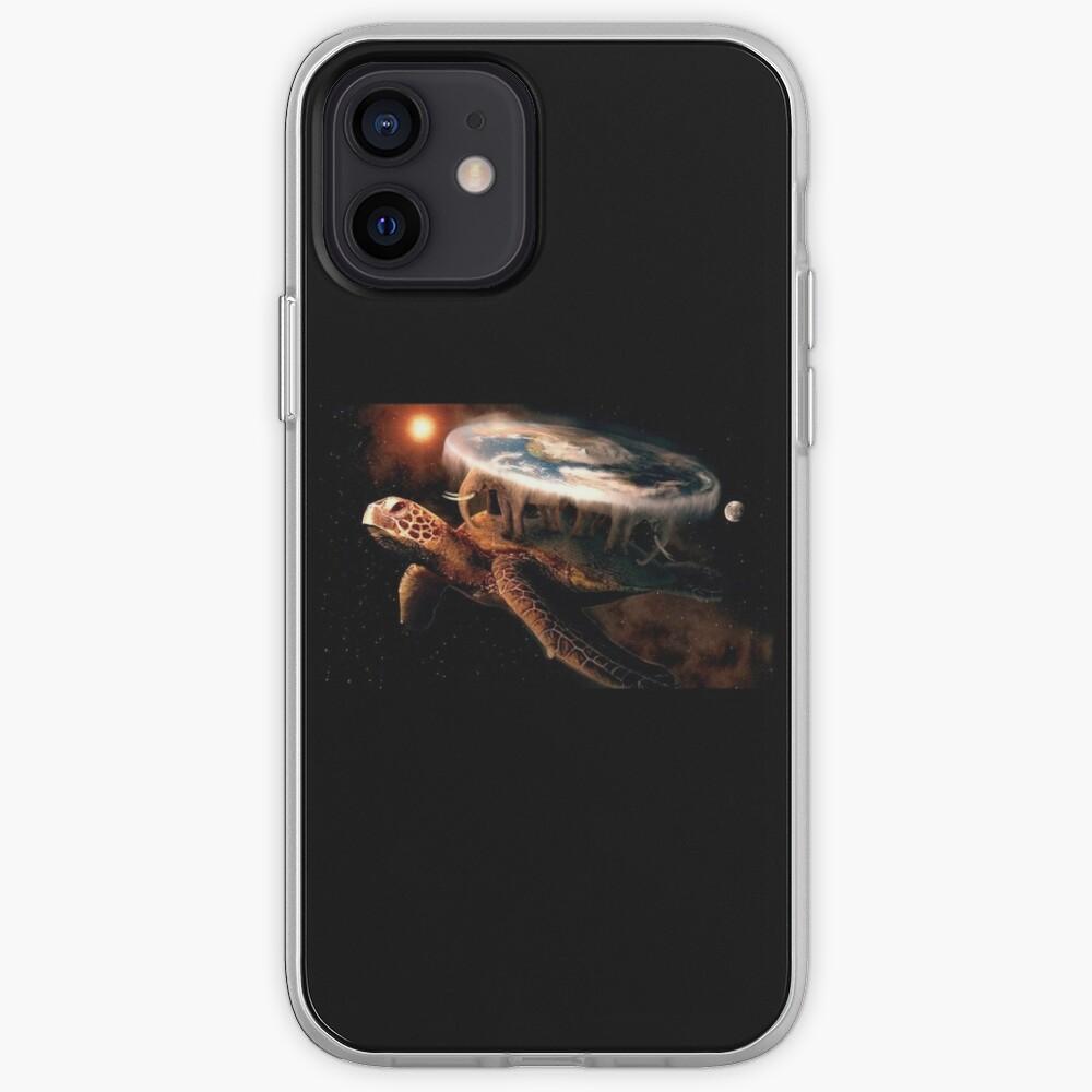 Flat Earth Turtle iPhone Case