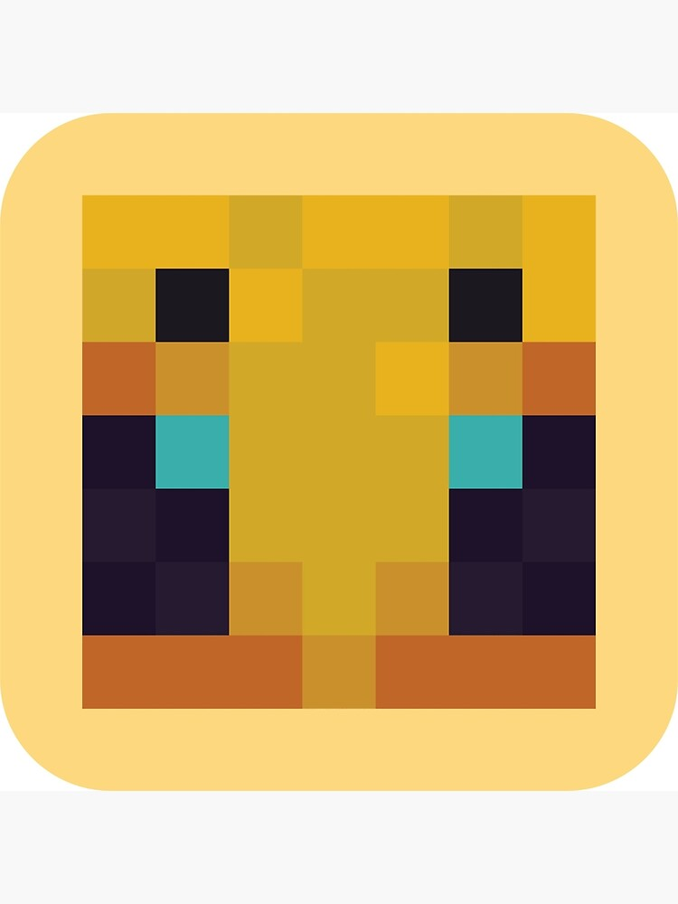 Pixel Minecraft Bee Art Board Print by makawoofum Redbubble