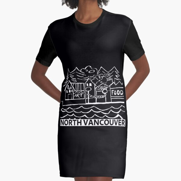 City of North Vancouver Graphic T-Shirt Dress