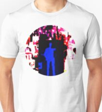 Blue man in US landscape T-Shirt