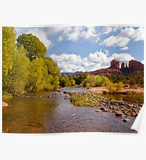 Oak Creek and the Cathedral Rocks Poster
