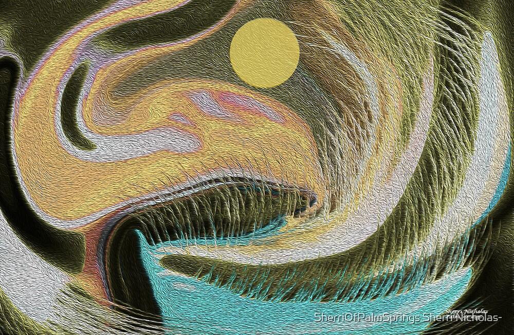 Abstract, Sailing The Pacific  by SherriOfPalmSprings Sherri Nicholas-