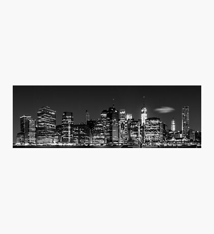 Downtown Manhattan - B&W  3x1 Photographic Print