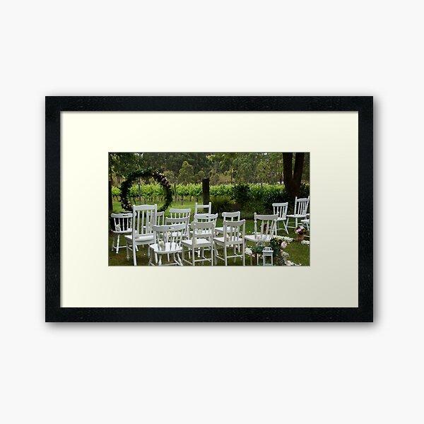 Winery Wedding - Adelaide wedding venue, Vineyard wedding Adelaide, Winery wedding SA Framed Art Print