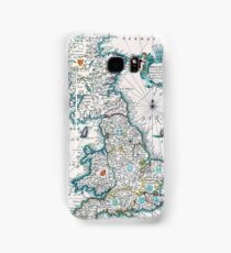 Vintage Antique Map of Britannia Samsung Galaxy Case/Skin