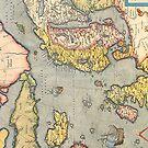 Vintage Map of Scandinavia by pjwuebker