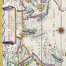 Vintage French Map of the Indies and Orient Circa 1677 by pjwuebker