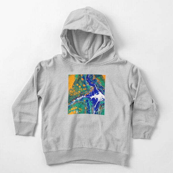 Acrylic Fluid Art Original Painting Art  Toddler Pullover Hoodie