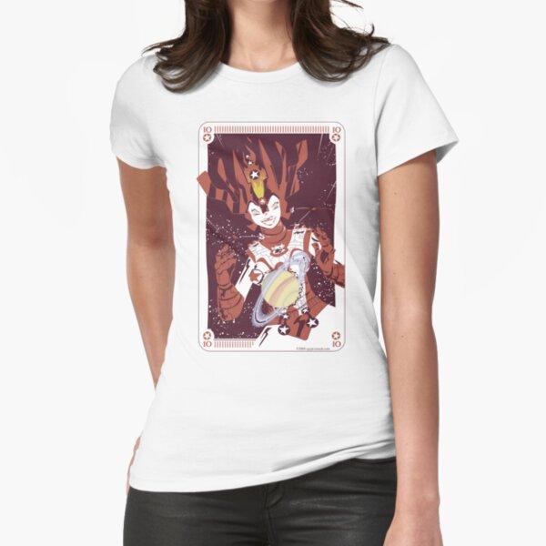 10 Pentacles: Galactina Fitted T-Shirt