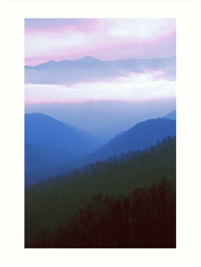 CLOUDS AND RIDGES by Chuck Wickham