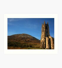 Dunlewey Church and Mount Errigal Art Print