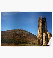 Dunlewey Church and Mount Errigal Poster