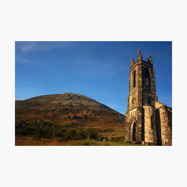 Dunlewey Church and Mount Errigal Photographic Print