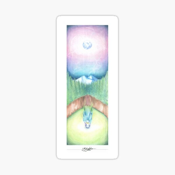 A call to spirit  Sticker