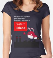 Invest in eastern Poland  Women's Fitted Scoop T-Shirt