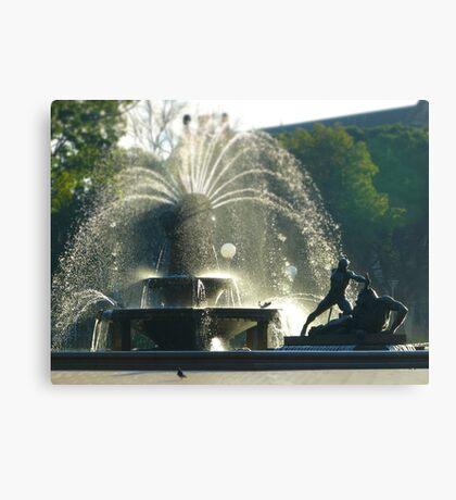 Fountain - tilt shifted Canvas Print