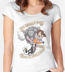 Little Guardian Angel Women's Fitted Scoop T-Shirt
