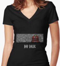 Bad Dalek Women's Fitted V-Neck T-Shirt