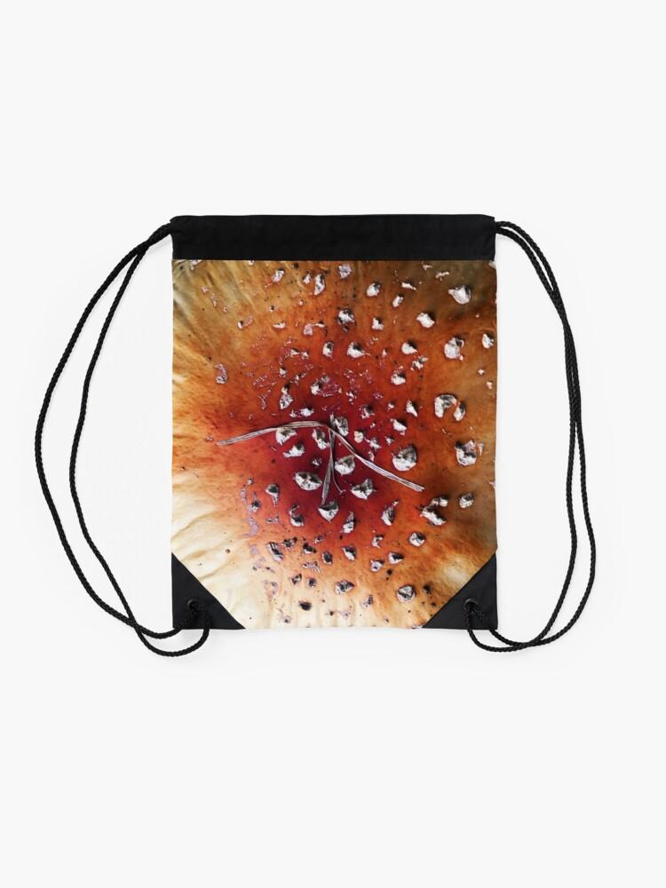 Alternate view of Diamonds on mushroom Drawstring Bag