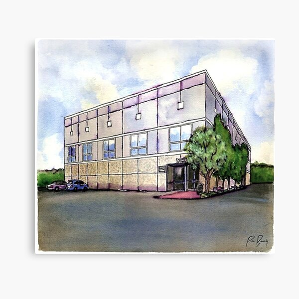 The Office Pam's Drawing of Dunder Mifflin's Building Canvas Print