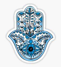 Blaues Hamsa Sticker