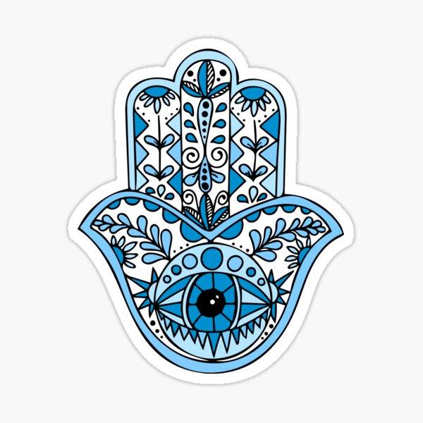 Blue Hamsa Sticker
