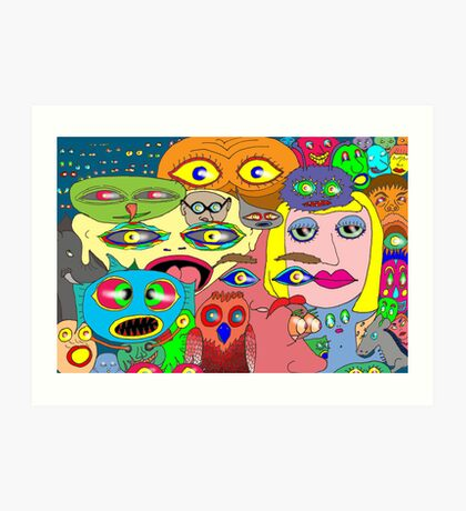 I think the eyes have it! Art Print