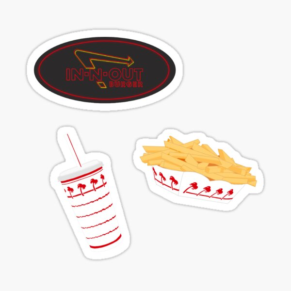 In n Out - 3 Pack Sticker