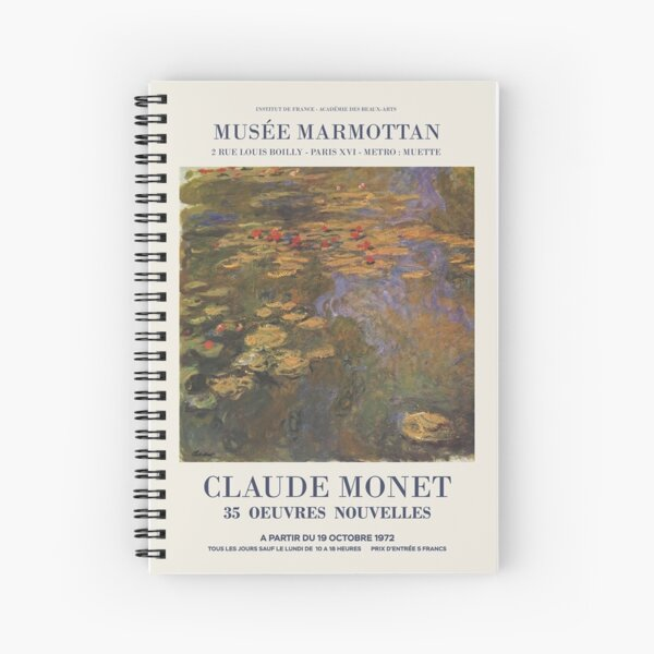 Monet artwork Spiral Notebook