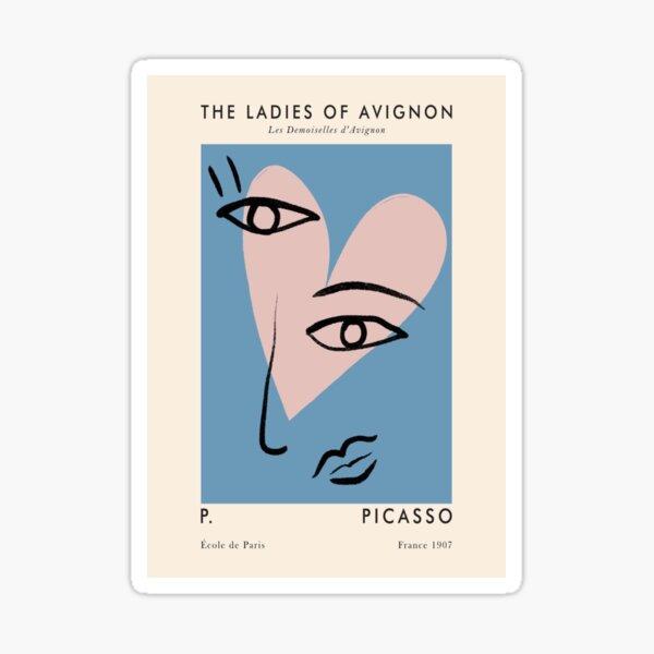 Obra de arte de Picasso Pegatina