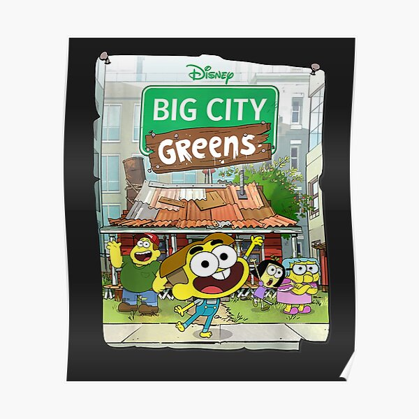 Big City Greens Poster Cricket and Family  Poster