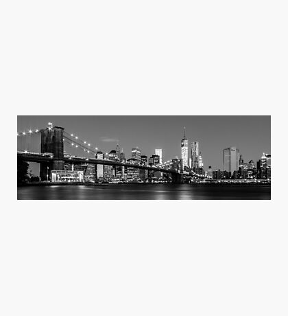 Brooklyn Bridge - B&W 2 -  3x1 Photographic Print