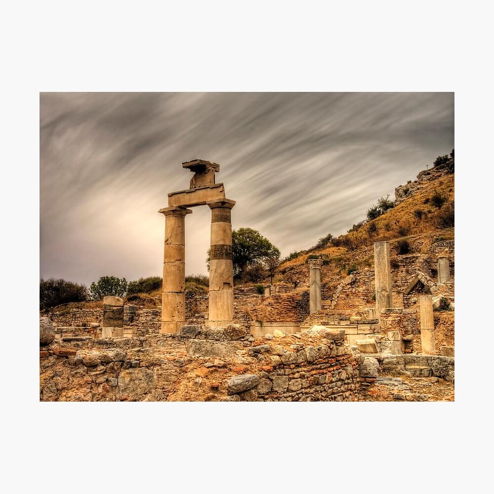 Ruins in ephesus, Turkey Photographic Print