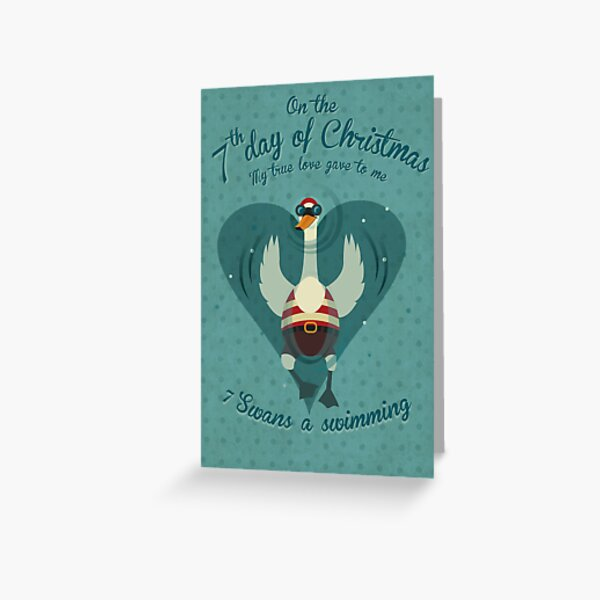 The Seventh Day of Christmas Greeting Card