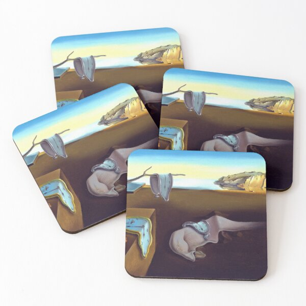 Salvador Dali The Persistence of Memory 1931 Artwork, Wall Art, Prints, Posters, Tshirts, Men, Women, Kids Coasters (Set of 4)