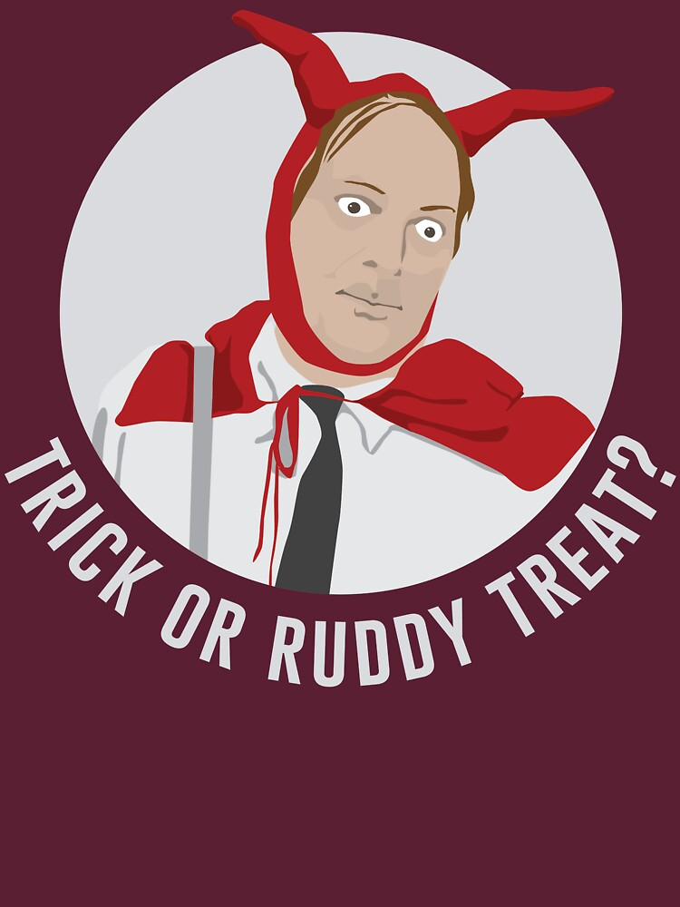 Trick or Ruddy Treat? (text) | Unisex T-Shirt