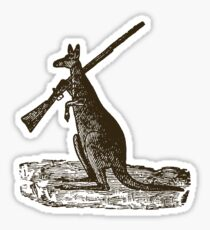 Kangaroo Shotgun Sticker