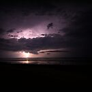 lightning over sandy neck by lucy loomis
