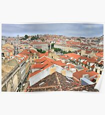 Lisbon from the roof Poster