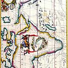 Vintage Antique Map of Africa Circa 1687 by pjwuebker
