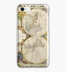 Vintage Antique French Map of the World Circa 1755 iPhone Case/Skin