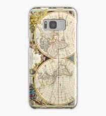Vintage Antique French Map of the World Circa 1755 Samsung Galaxy Case/Skin