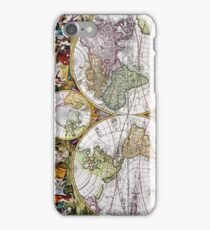 Vintage Antique French Map of the Hemispheres iPhone Case/Skin