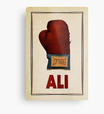 Ali Boxing Glove for Peace Poster Metal Print