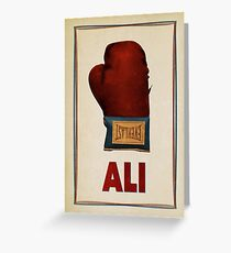 Ali Boxing Glove for Peace Poster Greeting Card