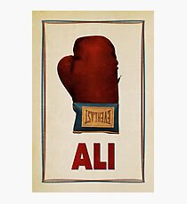 Ali Boxing Glove for Peace Poster Photographic Print