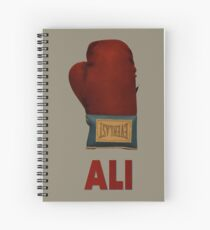 Ali Boxing Glove for Peace Poster Spiral Notebook