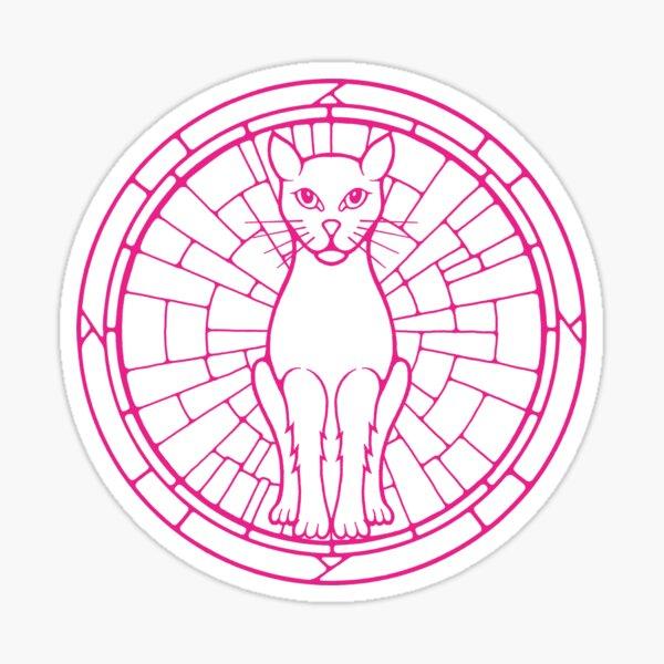 Pink Cat Sticker